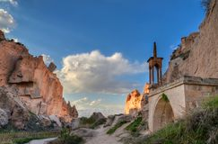 Cappadocia от Nevsehir Стоковое Изображение RF