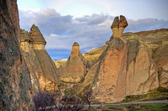 Cappadocia. Typical landscape in Cappadocia created by erosion of tuf Stock Image