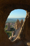 Cappadocia. Turkey Oldw window in Stone House stock images