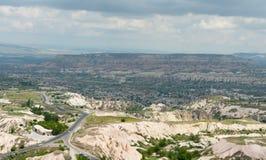 Cappadocia. Aerial view - Goreme Valley, Cappadocia, Turkey Royalty Free Stock Images