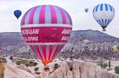 气球cappadocia热火鸡 免版税库存照片