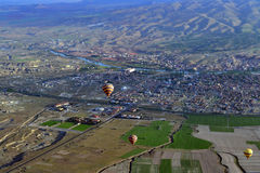 Cappadocia from air Royalty Free Stock Image