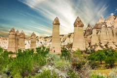 Cappadocia Anatolia in Turkey. Goreme national park Stock Images