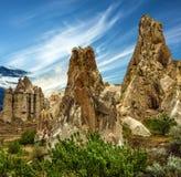 Cappadocia in Anatolia, Turkey. Love valley in Goreme national par Royalty Free Stock Image