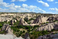 Cappadocia, Anatolia, Turkey. Open air museum, Goreme national park. Beautiful landscape stock image