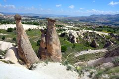 Cappadocia, Anatolia, Turkey. Open air museum, Goreme national park. Beautiful landscape stock photo