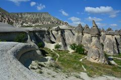 Cappadocia, Anatolia, Turkey. Open air museum, Goreme national park. Beautiful landscape stock photos