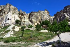Cappadocia, Anatolia, Turkey. Open air museum, Goreme national park. Beautiful landscape stock images