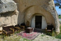 Cappadocia, Anatolia, Turkey. Open air museum, Goreme national park. Beautiful landscape royalty free stock photo