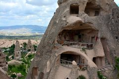 Cappadocia, Anatolia, Turkey. Open air museum, Goreme national park. Beautiful landscape royalty free stock image