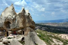 Cappadocia, Anatolia, Turkey. Open air museum, Goreme national park. Beautiful landscape royalty free stock images
