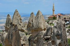 Cappadocia, Anatolia, Turkey. Open air museum, Goreme national park. Beautiful landscape royalty free stock photography
