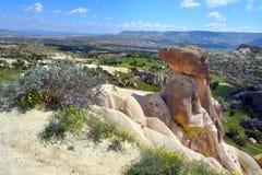 Cappadocia Anatolien, Turkiet Museum f?r ?ppen luft, Goreme nationalpark royaltyfria bilder