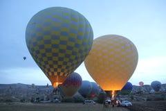Cappadocia balloon turkey moonscape royalty free stock image