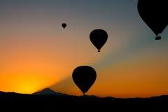 Cappadocia balloons Stock Image