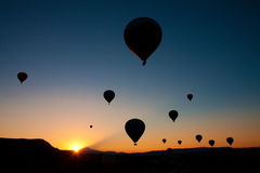 Cappadocia balloons Royalty Free Stock Photography