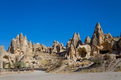 Cappadocia Beautiful Landscape Cave Houses Royalty Free Stock Photography