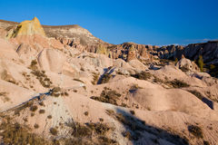 Cappadocia bizzare rock formations Royalty Free Stock Photo