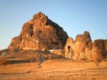 Cappadocia Castle. Beautiful landscape in Cappadocia with abandoned castle Royalty Free Stock Photos