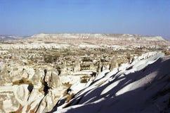 Cappadocia Cavetown in der Türkei stockfotografie