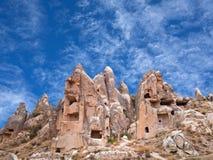 Cappadocia, Central Anatolia, Turkey. Panorama of unique geological formations in Cappadocia, Central Anatolia, Turkey Stock Image