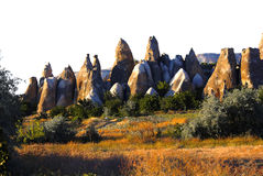 Cappadocia chimneys Royalty Free Stock Photo