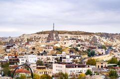 Cappadocia city view with characteristic nature scenery Royalty Free Stock Image