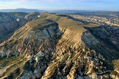 Cappadocia da aria Fotografie Stock