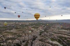 Cappadocia dal pallone di altezza La Turchia Fotografia Stock Libera da Diritti