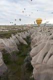 Cappadocia dal pallone di altezza La Turchia Fotografie Stock