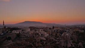 Cappadocia de la puesta del sol uchisar Fotografía de archivo libre de regalías