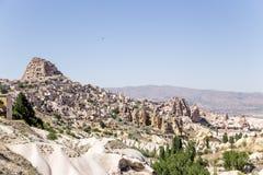 Cappadocia, die Türkei Alte Festung Uchisar Lizenzfreie Stockfotos