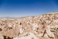 Cappadocia, die Türkei Devrent-Tal mit Zahlen von Verwitterung Stockbild