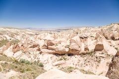 Cappadocia, die Türkei Mondlandschaft im Devrent-Tal Stockfotos