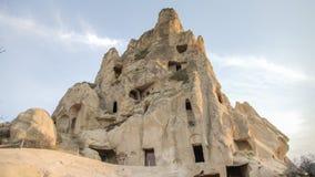 Cappadocia, die Türkei - 15. November 2014: Panorama von einzigartigen geologischen Bildungen in Cappadocia, die Türkei stockbild