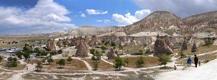 Cappadocia Die Türkei Panoramisches Foto Lizenzfreie Stockbilder
