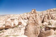 Cappadocia, die Türkei Säulen von Verwitterung (Felsnasen) im Devrent-Tal Lizenzfreie Stockbilder
