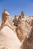 Cappadocia, die Türkei Säulen von Verwitterung (Felsnasen) im Devrent-Tal Stockfotografie