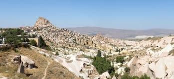 Cappadocia, drapeau panoramique de panorama de la Turquie photos stock