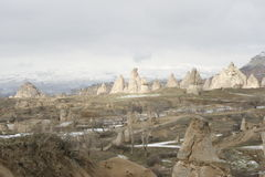 Cappadocia en hiver Photos libres de droits