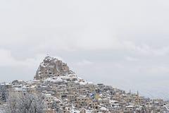 Cappadocia en invierno fotografía de archivo
