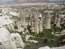 Cappadocia förälskelsedal arkivfoto