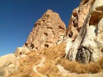 Cappadocia fördärvade staden Royaltyfri Fotografi