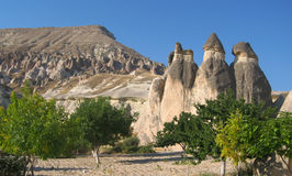 Cappadocia Fairy Chimneys rock formation nearby Goreme in Turkey Stock Photo