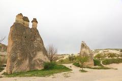 Cappadocia Fee-Kamine Stockbilder