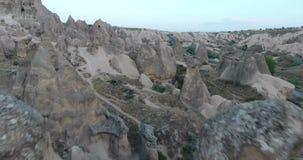 Cappadocia felika lampglas antenn, Turkiet arkivfilmer