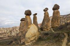 Cappadocia, funghi di pietra Fotografie Stock