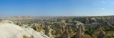 cappadocia goreme全景 免版税库存图片
