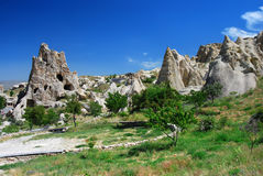 cappadocia goreme横向 免版税库存图片