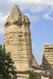 Cappadocia, Goreme, Anatolia, Desert, Landscape, Ancient, Turke. Valley with fairy chimneys near Goreme, Cappadocia, Turkey Stock Image